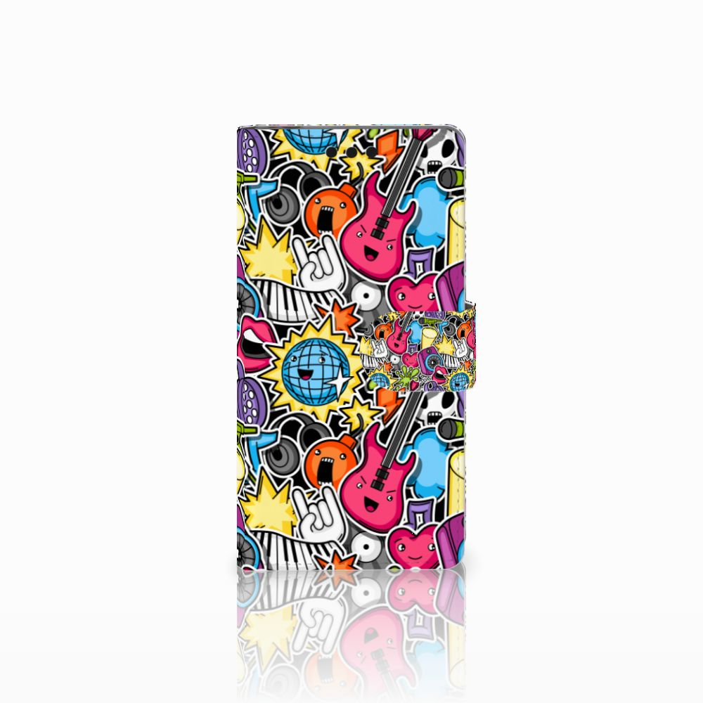 Sony Xperia M4 Aqua Uniek Boekhoesje Punk Rock