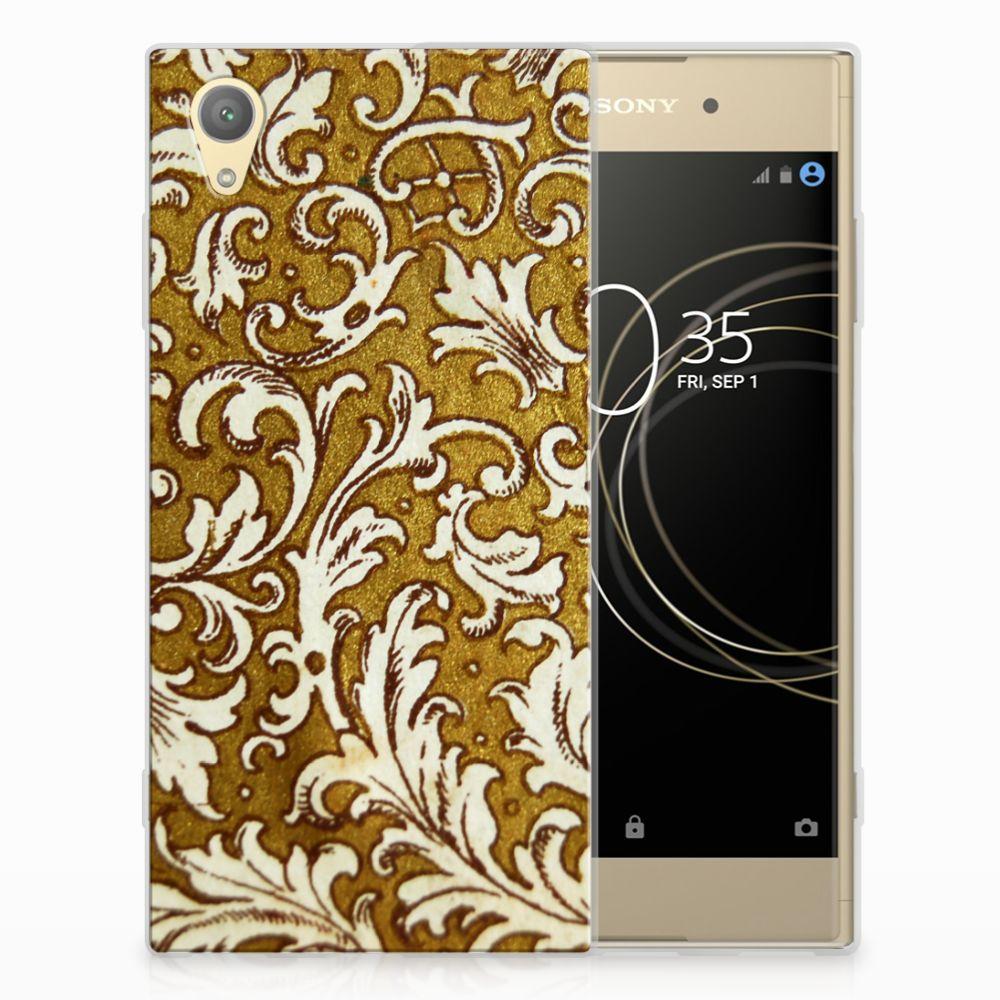 Siliconen Hoesje Sony Xperia XA1 Plus Barok Goud