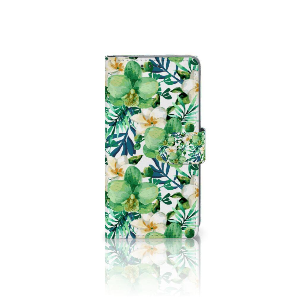 Sony Xperia Z2 Uniek Boekhoesje Orchidee Groen