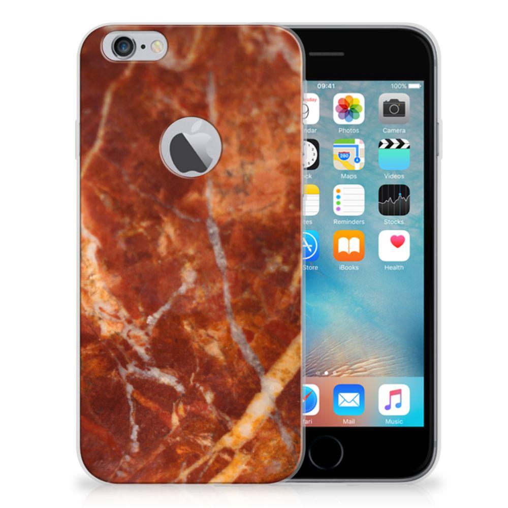 Apple iPhone 6 Plus | 6s Plus TPU Siliconen Hoesje Marmer Bruin