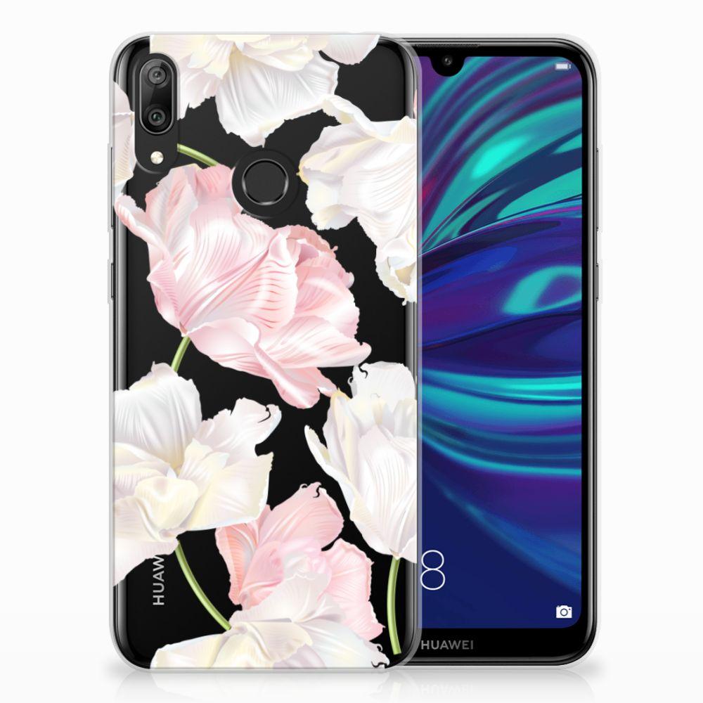 Huawei Y7 2019 TPU Hoesje Design Lovely Flowers