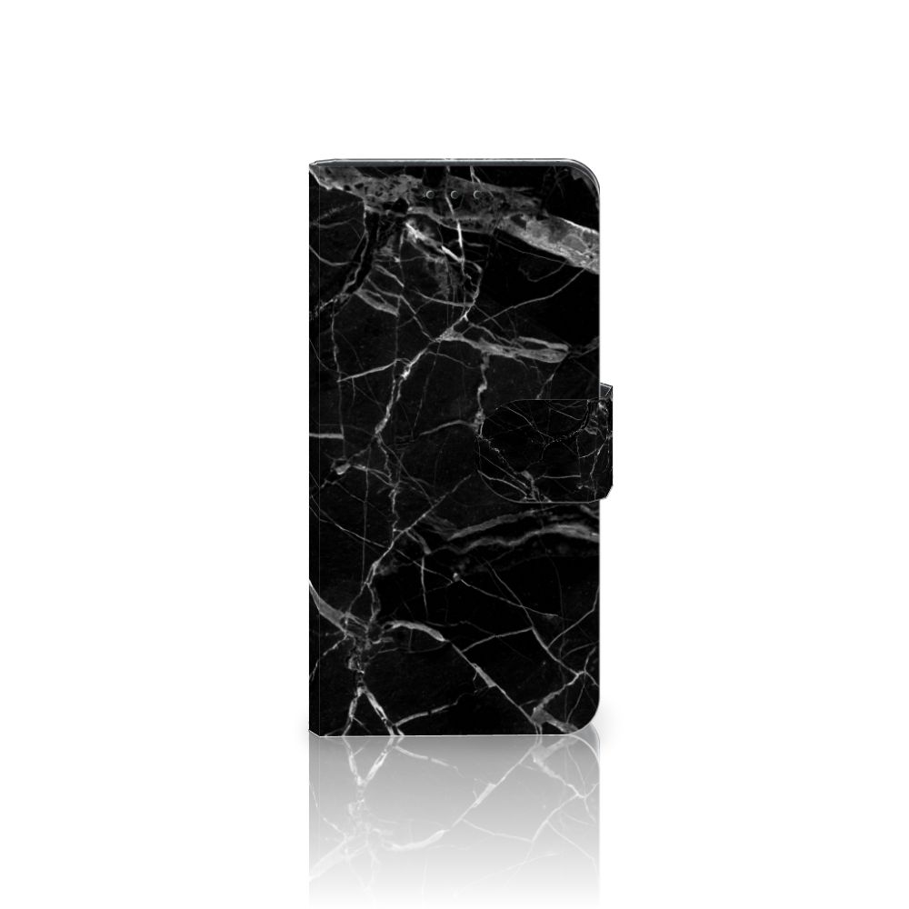 Samsung Galaxy J5 2017 Uniek Boekhoesje Marmer Zwart