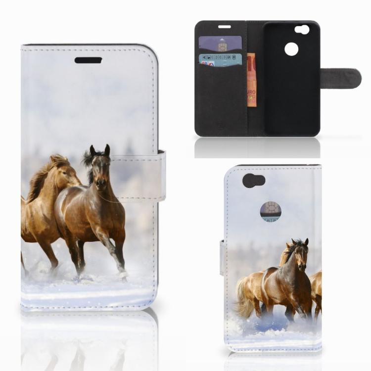 Huawei Nova Telefoonhoesje met Pasjes Paarden