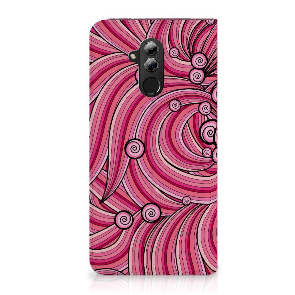 Huawei Mate 20 Lite Uniek Standcase Hoesje Swirl Pink