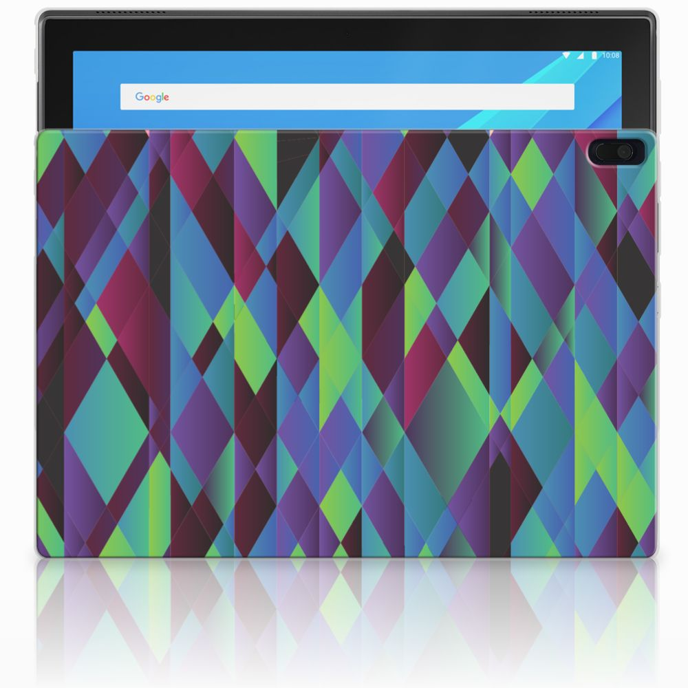 Lenovo Tab 4 10.1 Back Cover Abstract Green Blue