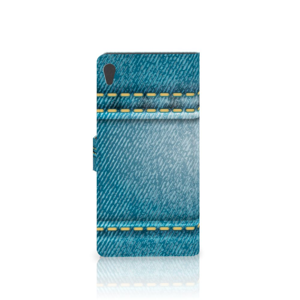 Sony Xperia XA Ultra Wallet Case met Pasjes Jeans
