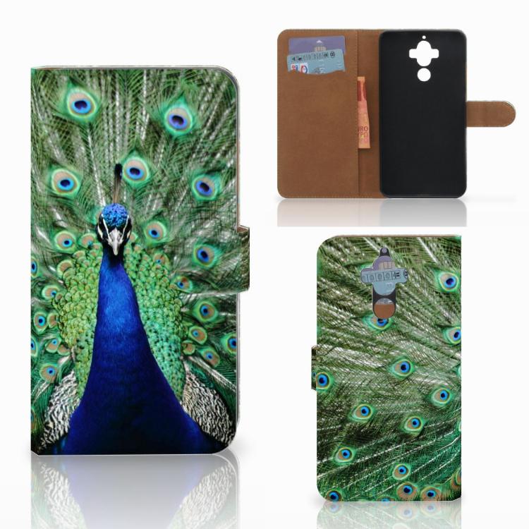 Huawei Mate 9 Telefoonhoesje met Pasjes Pauw