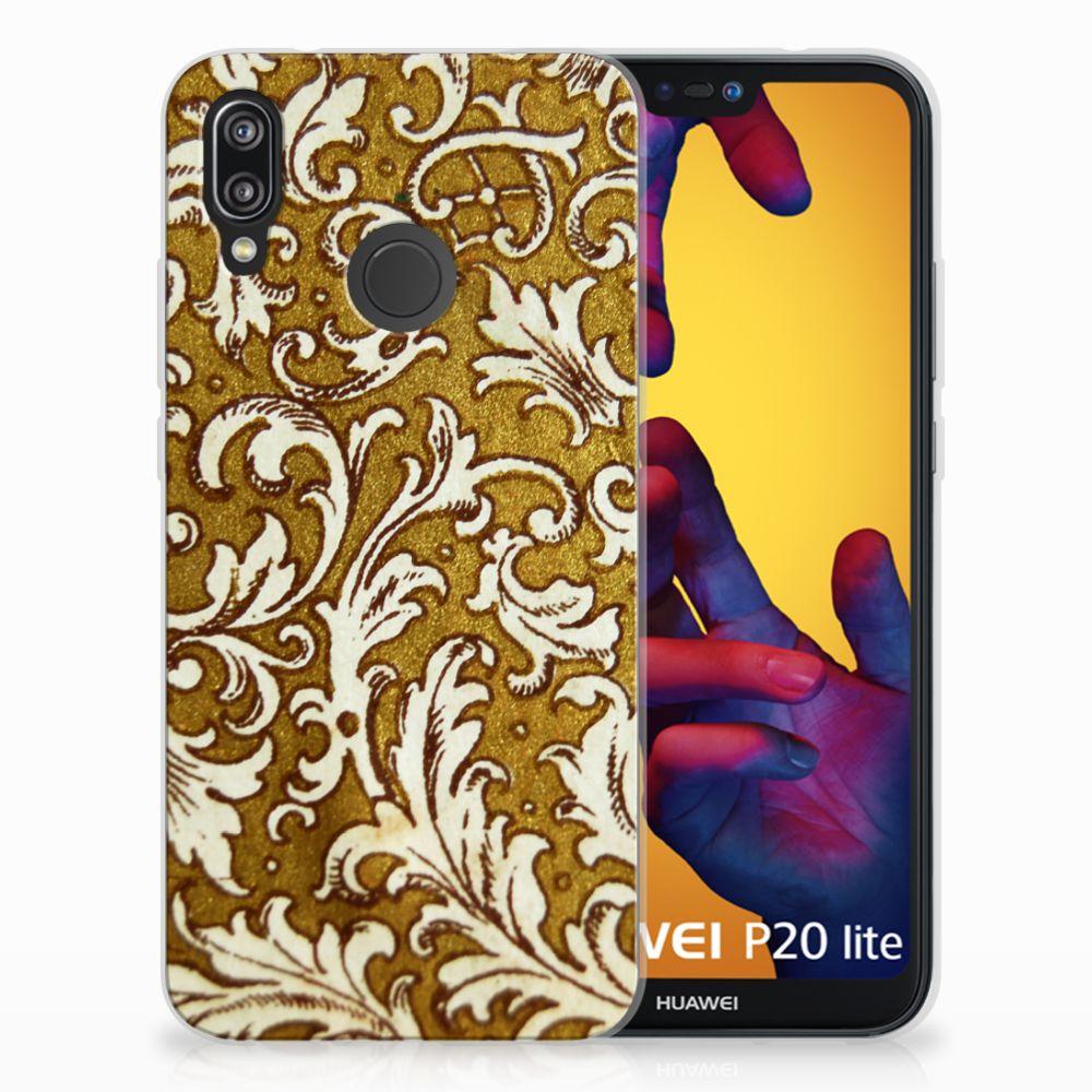 Siliconen Hoesje Huawei P20 Lite Barok Goud