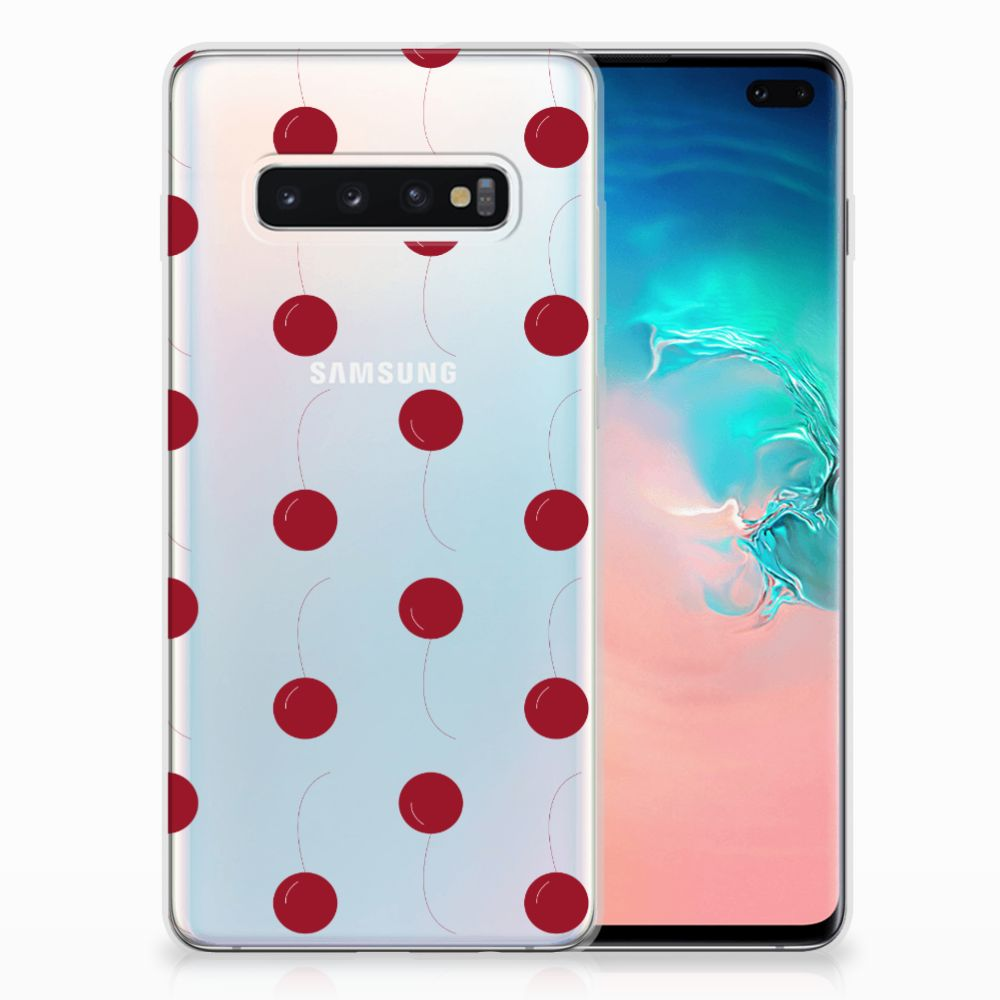 Samsung Galaxy S10 Plus Siliconen Case Cherries