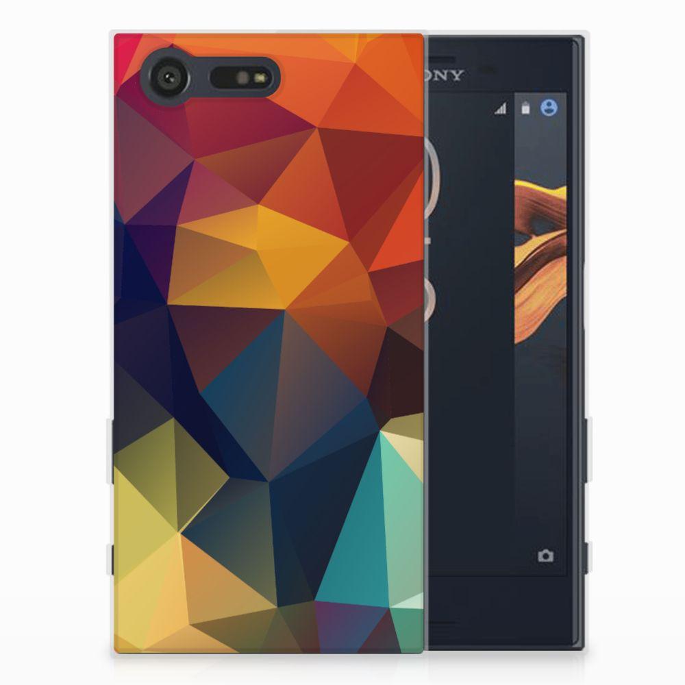 Sony Xperia X Compact TPU Hoesje Polygon Color