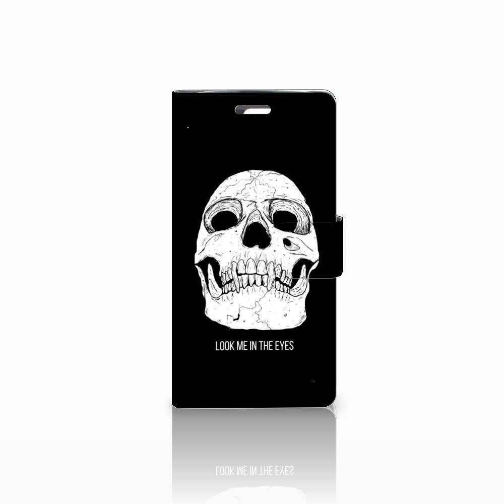 LG K10 2015 Uniek Boekhoesje Skull Eyes