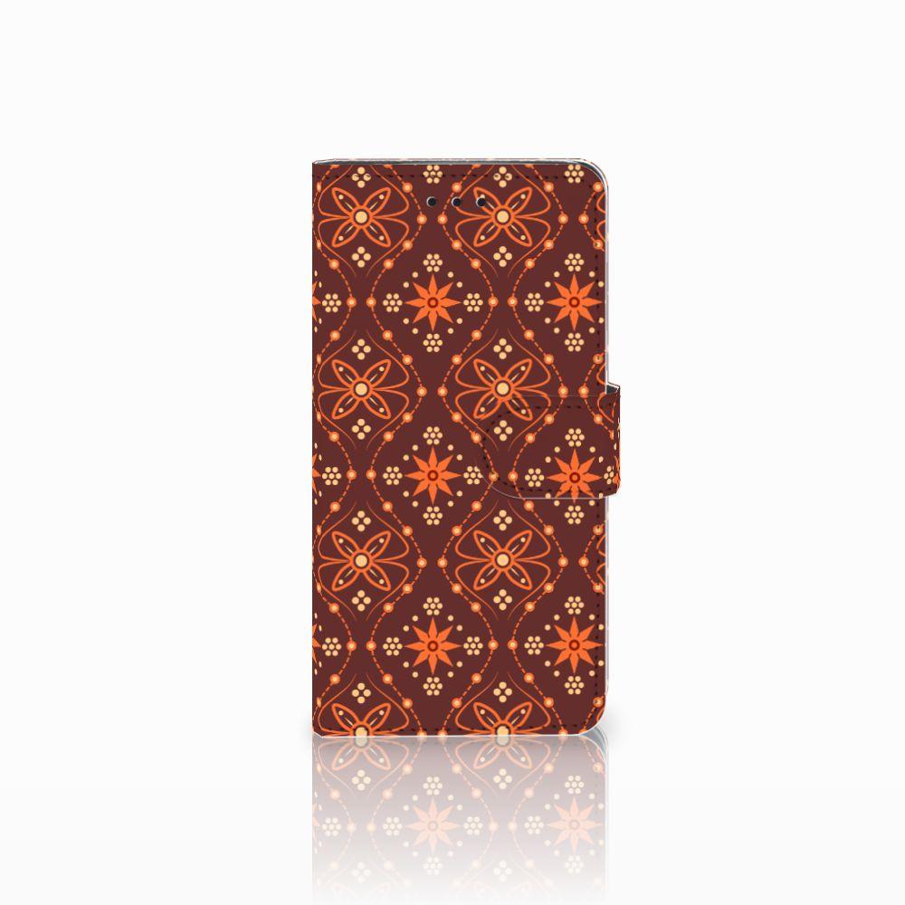 Huawei Y5 2018 Telefoon Hoesje Batik Brown