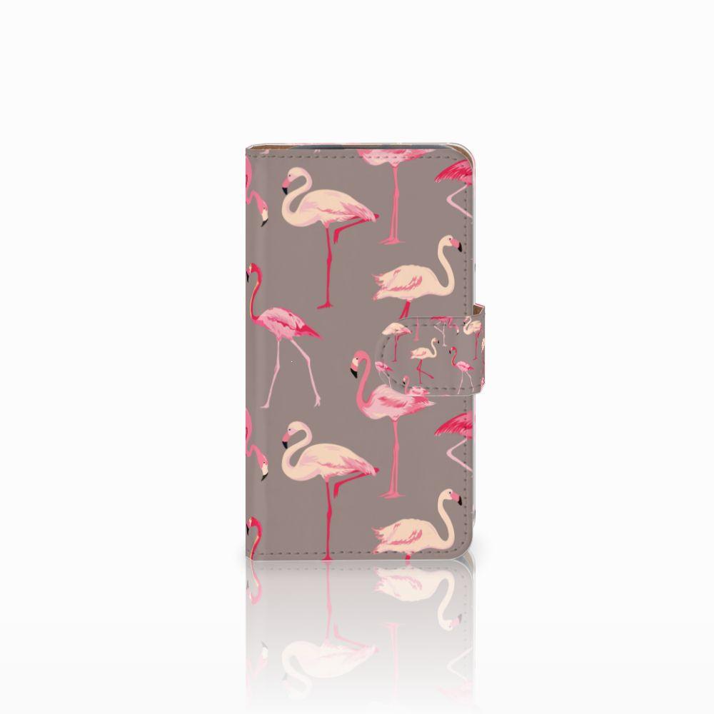 HTC Desire 310 Uniek Boekhoesje Flamingo