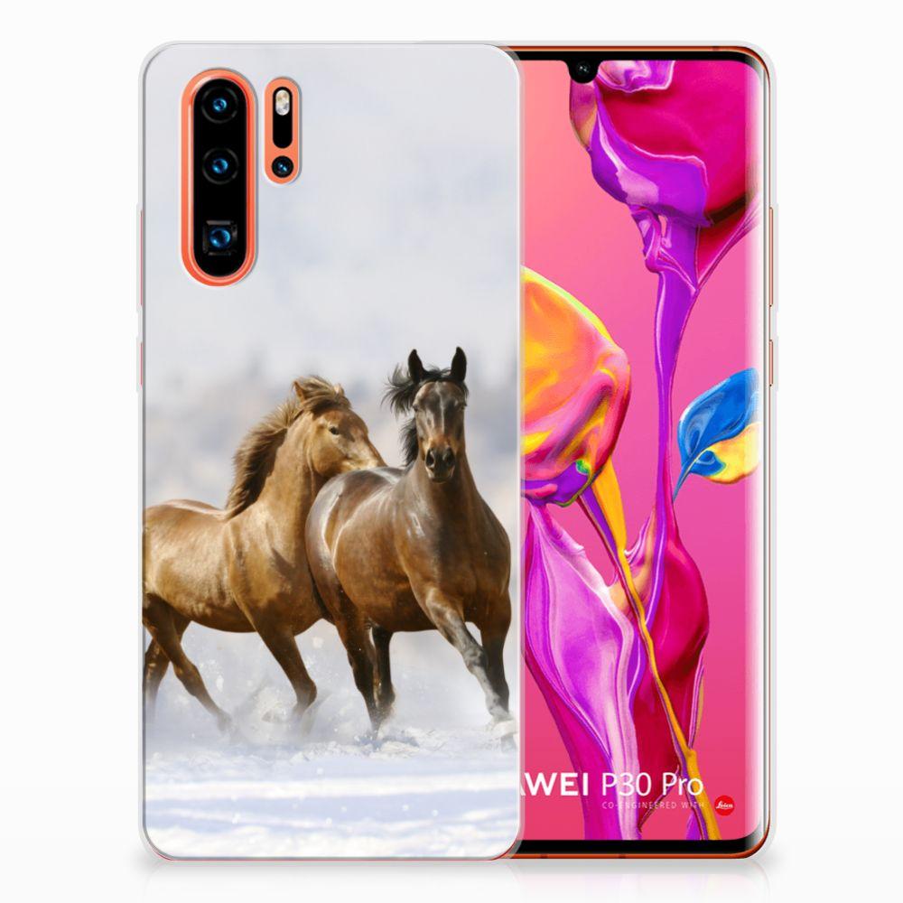 Huawei P30 Pro TPU Hoesje Paarden