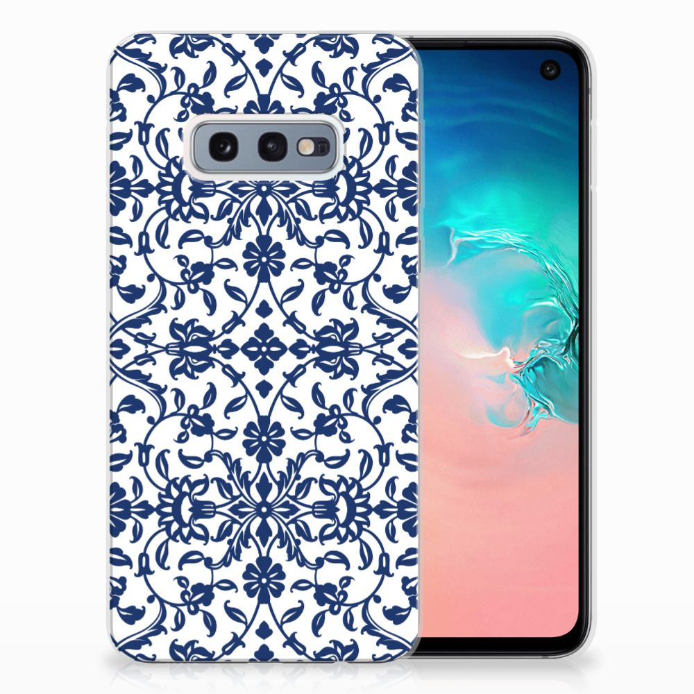 Samsung Galaxy S10e TPU Hoesje Flower Blue
