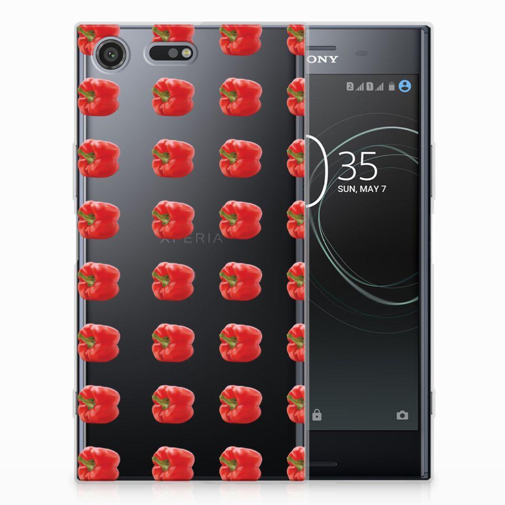 Sony Xperia XZ Premium Siliconen Case Paprika Red