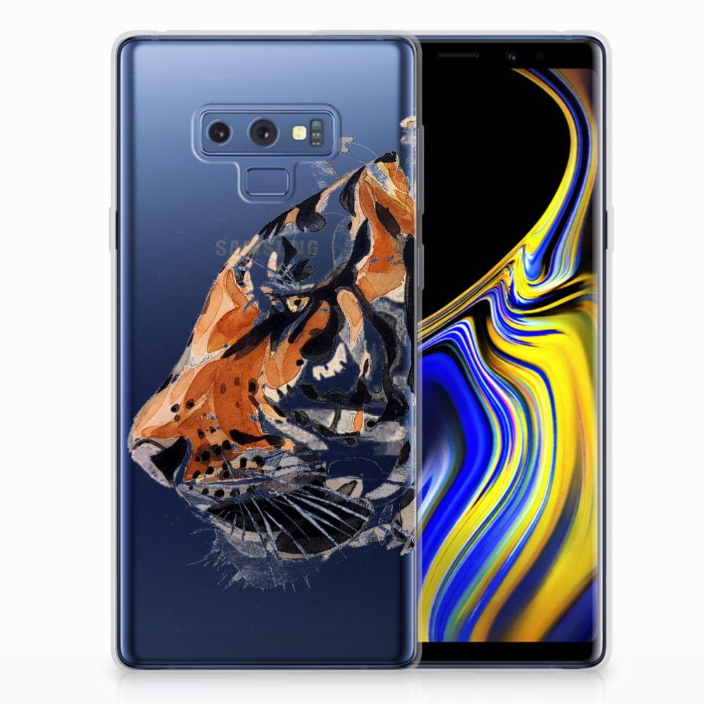 Samsung Galaxy Note 9 Uniek TPU Hoesje Watercolor Tiger