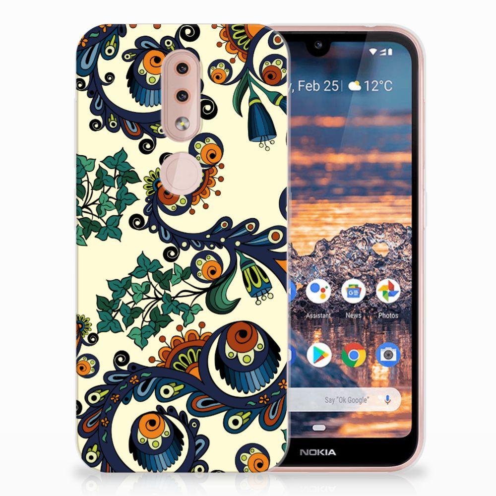 Siliconen Hoesje Nokia 4.2 Barok Flower