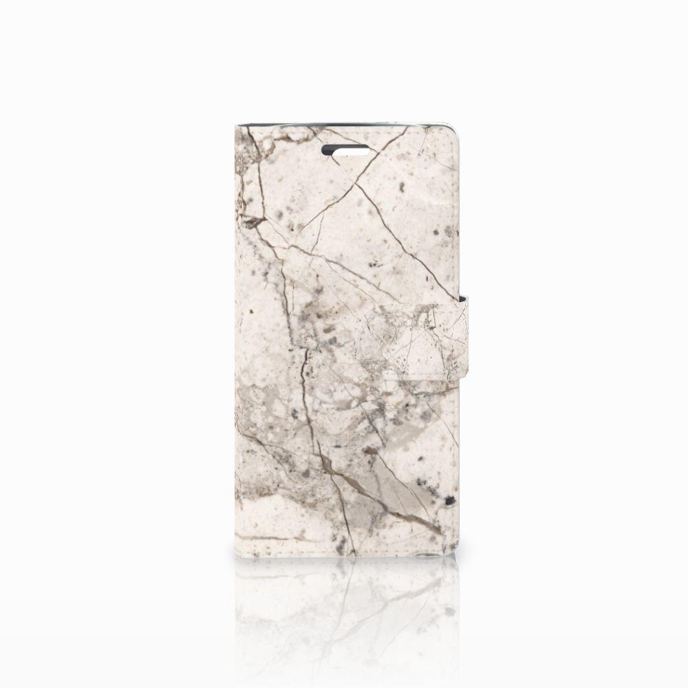 LG K10 2015 Boekhoesje Design Marmer Beige