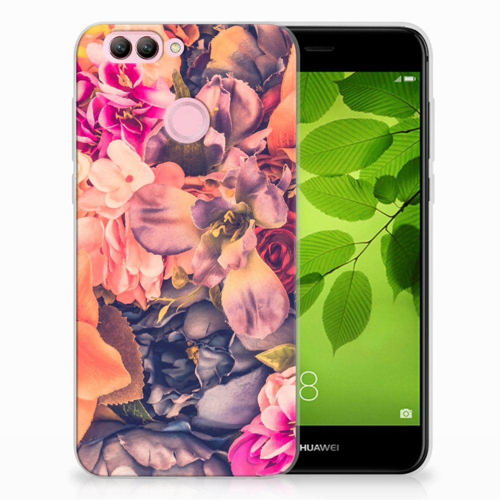 Huawei Nova 2 TPU Hoesje Design Bosje Bloemen