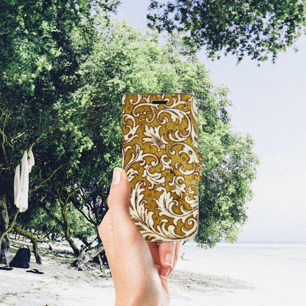 Wallet Case Huawei Nova Barok Goud