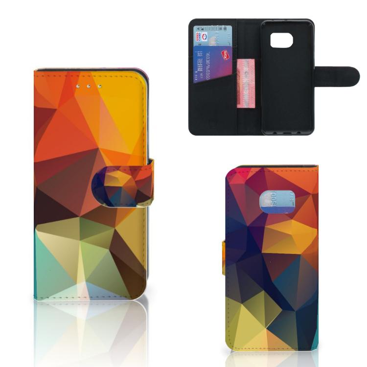 Samsung Galaxy S6 Edge Bookcase Polygon Color