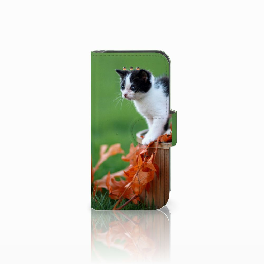 Apple iPhone 5C Telefoonhoesje met Pasjes Kitten