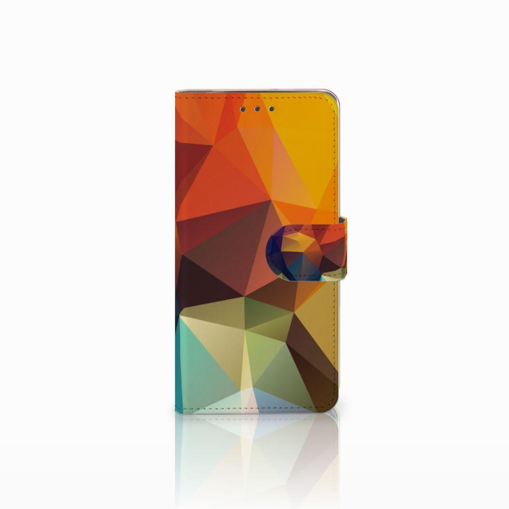 Motorola Moto X4 Bookcase Polygon Color