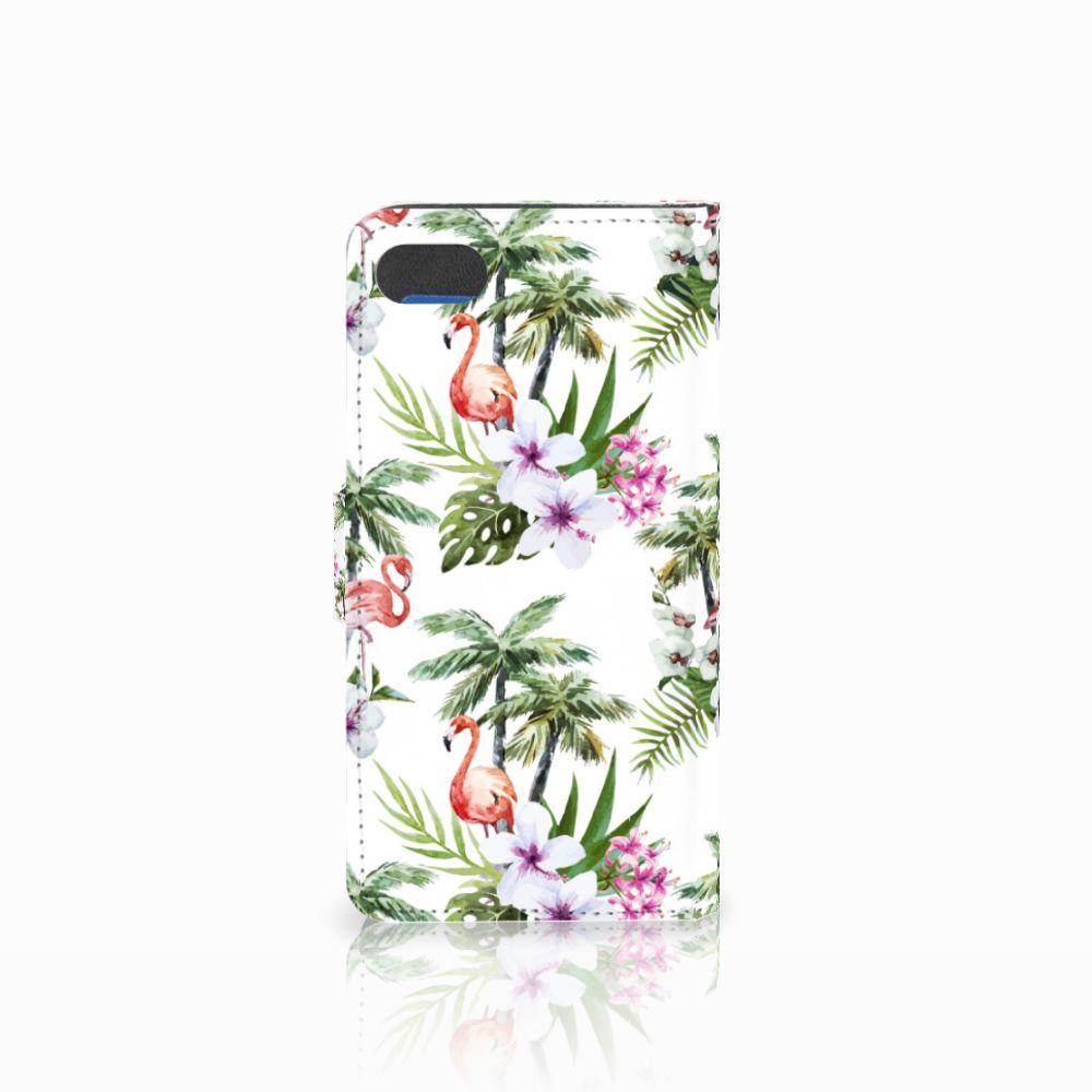 Huawei Y5 2018 Telefoonhoesje met Pasjes Flamingo Palms