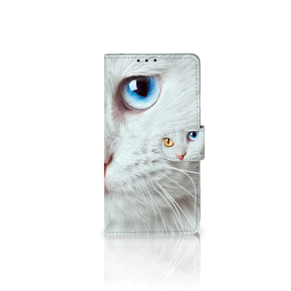 Sony Xperia Z1 Telefoonhoesje met Pasjes Witte Kat