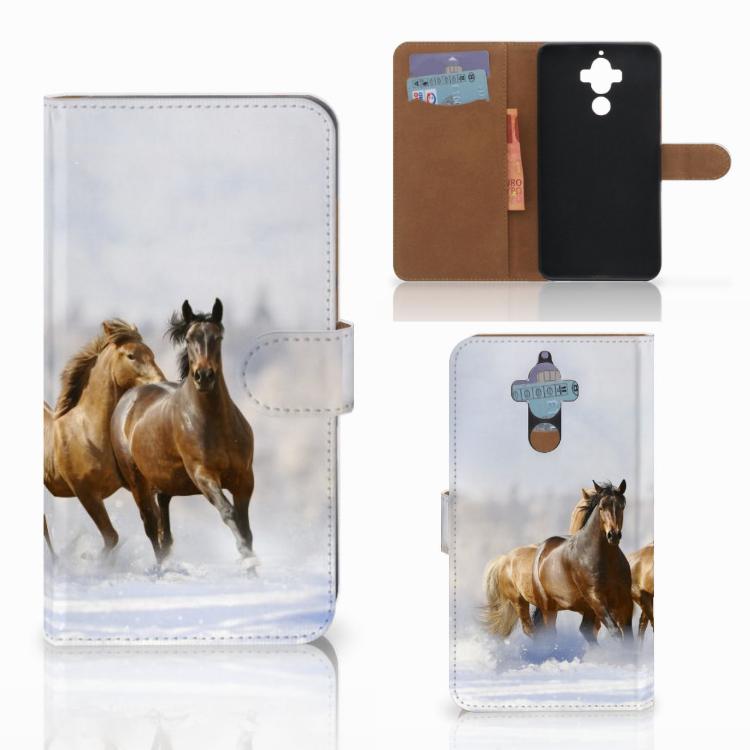 Huawei Mate 9 Telefoonhoesje met Pasjes Paarden