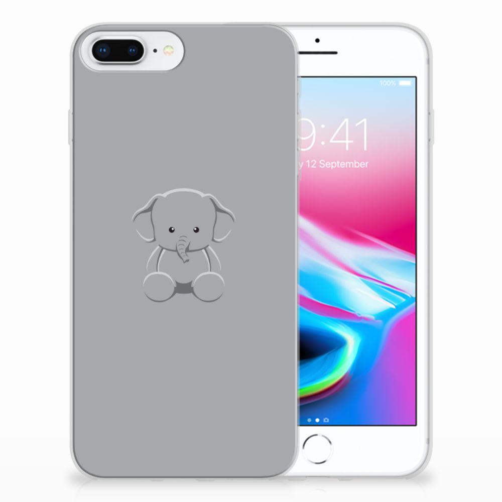Apple iPhone 7 Plus | 8 Plus Uniek TPU Hoesje Baby Olifant