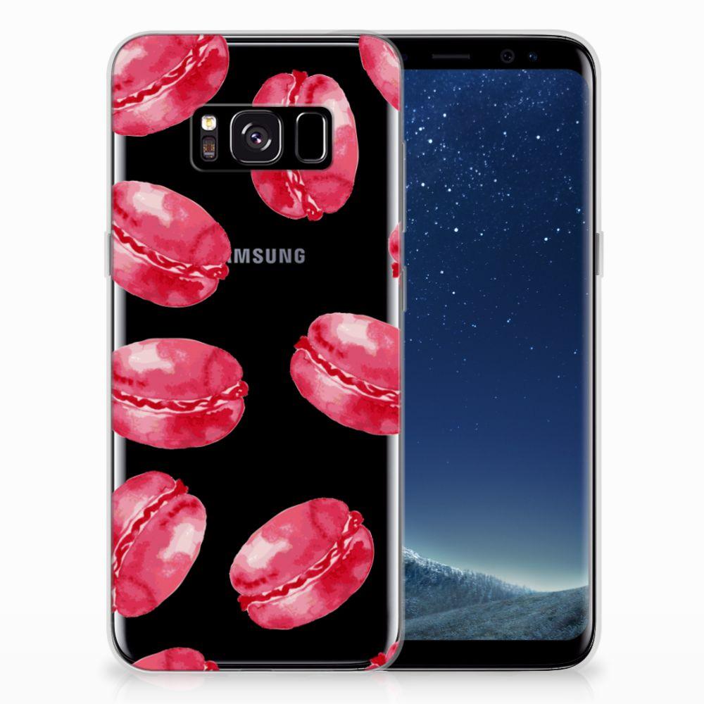 Samsung Galaxy S8 Siliconen Case Pink Macarons