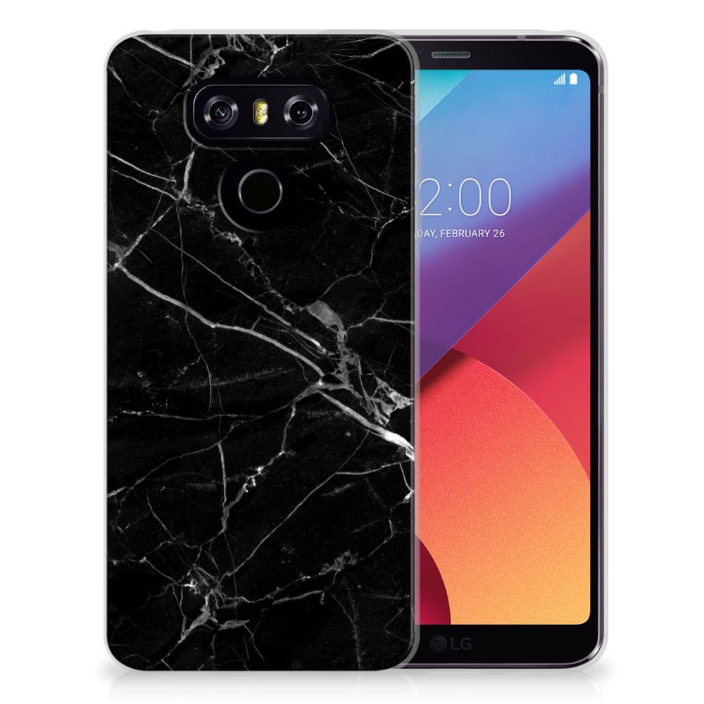 LG G6 TPU Siliconen Hoesje Marmer Zwart