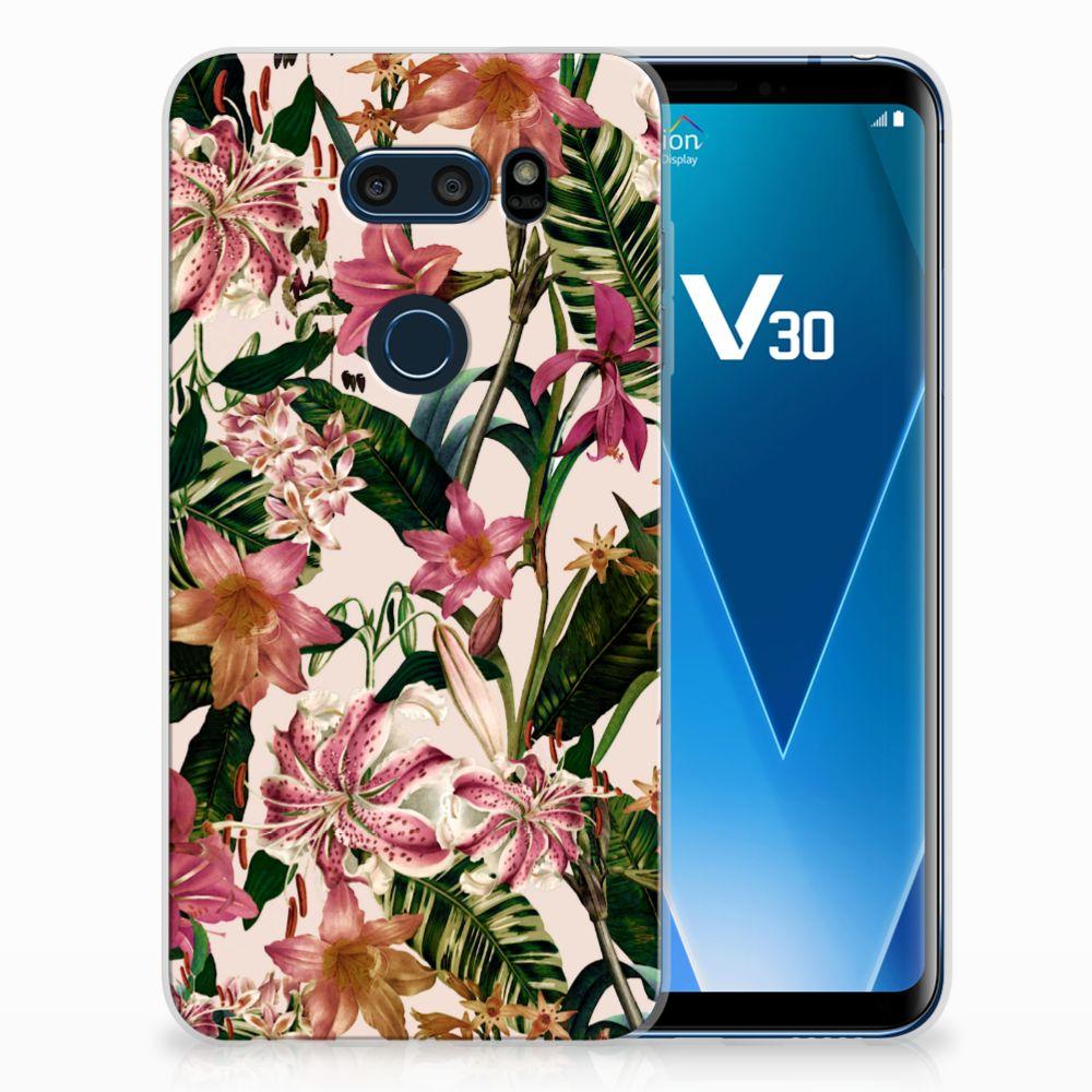 LG V30 Uniek TPU Hoesje Flowers