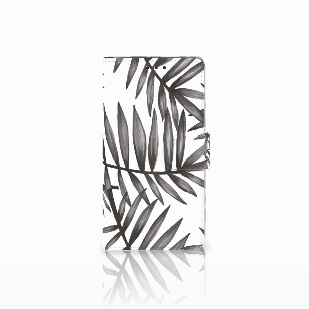 LG G4 Uniek Boekhoesje Leaves Grey
