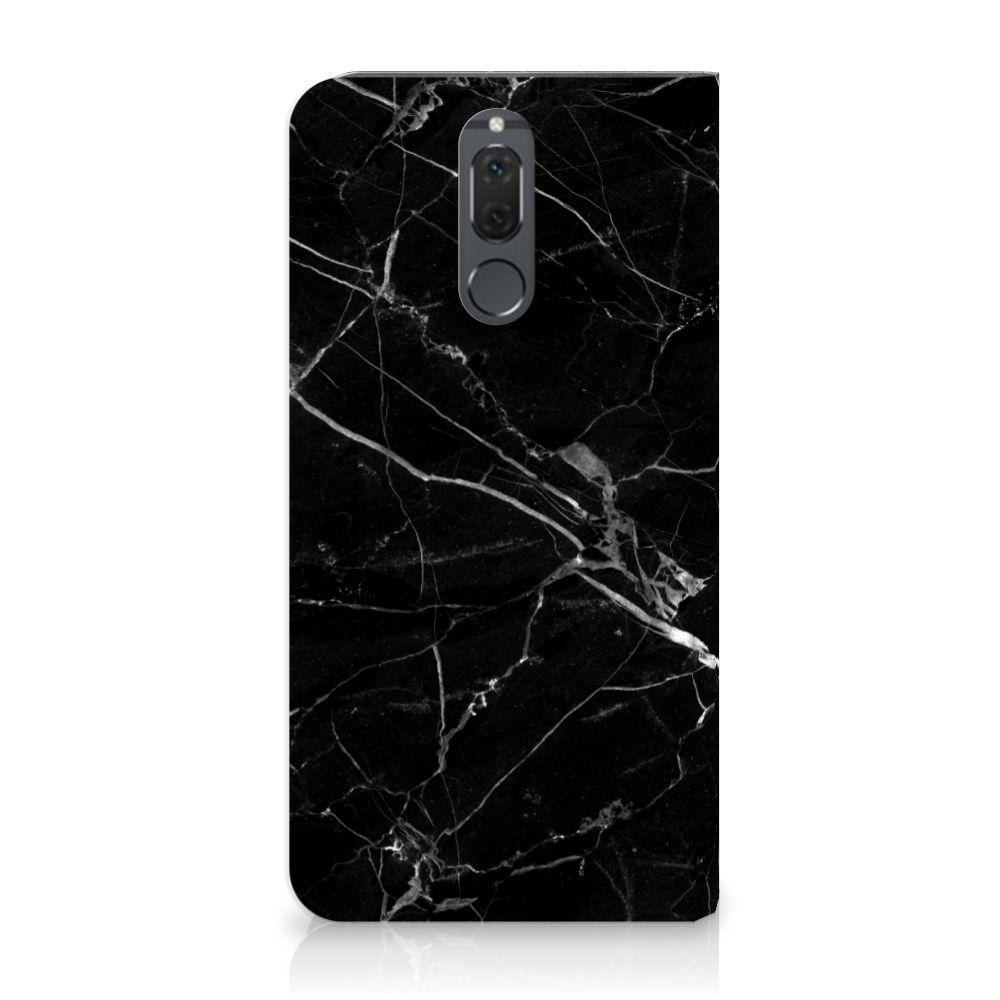 Huawei Mate 10 Lite Uniek Standcase Hoesje Marmer Zwart