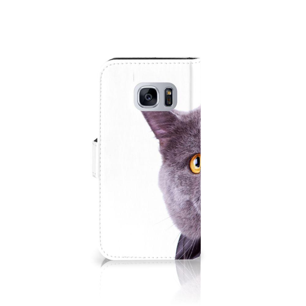 Samsung Galaxy S7 Telefoonhoesje met Pasjes Kat