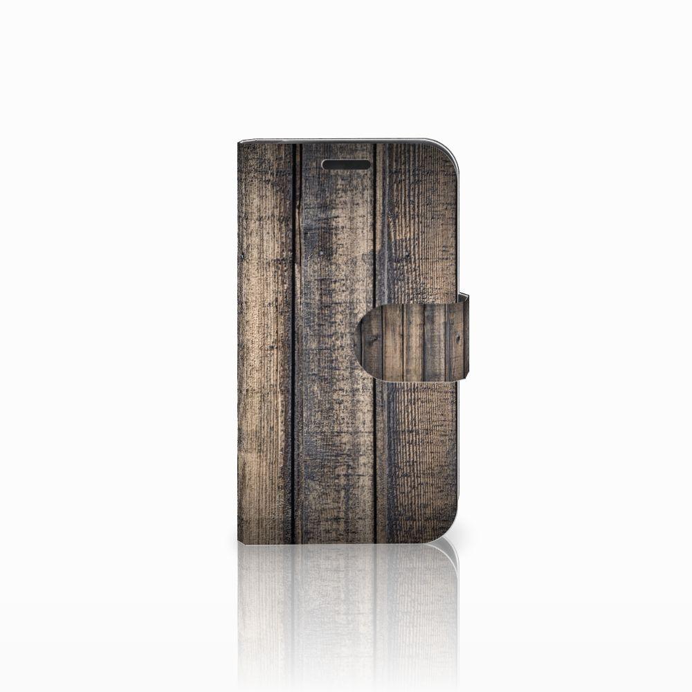 LG K4 Boekhoesje Design Steigerhout