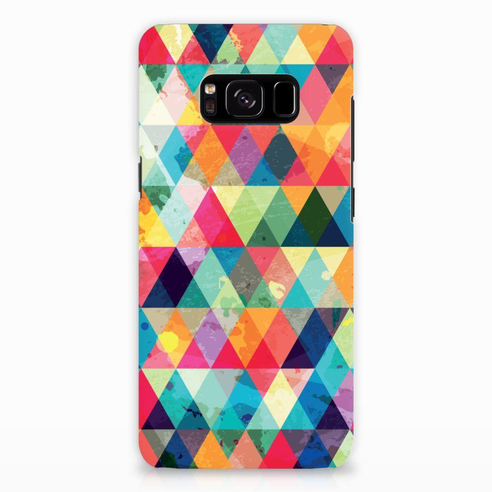 Samsung Galaxy S8 Uniek Hardcase Hoesje Geruit