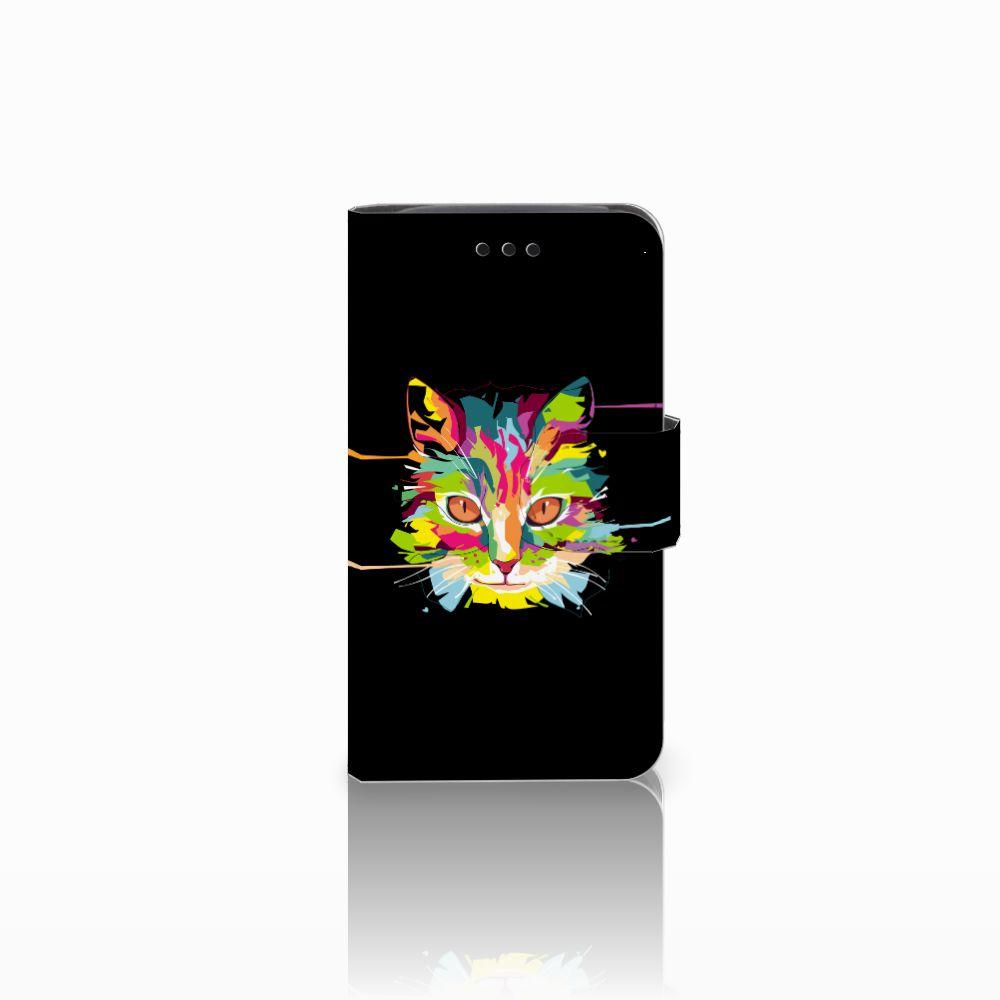 Samsung Galaxy Core i8260 Uniek Boekhoesje Cat Color