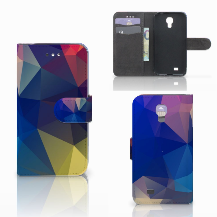 Samsung Galaxy S4 Bookcase Polygon Dark