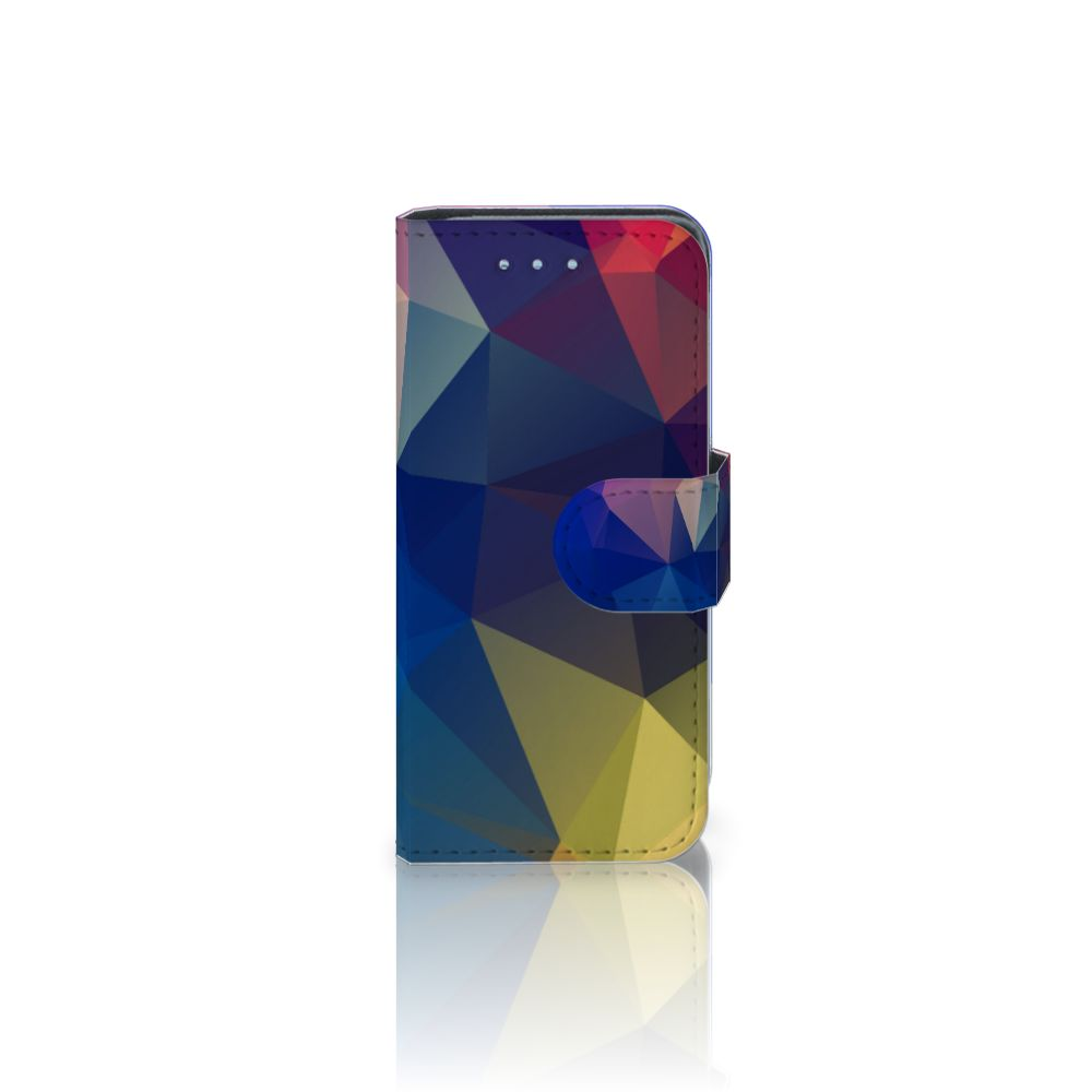 Samsung Galaxy S4 Mini i9190 Uniek Boekhoesje Polygon Dark