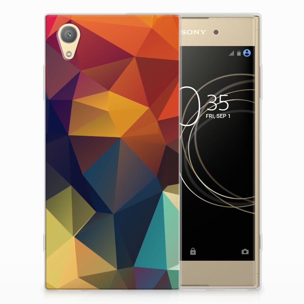 Sony Xperia XA1 Plus TPU Hoesje Polygon Color