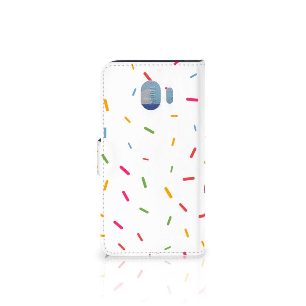 Samsung Galaxy J4 2018 Book Cover Donut Roze