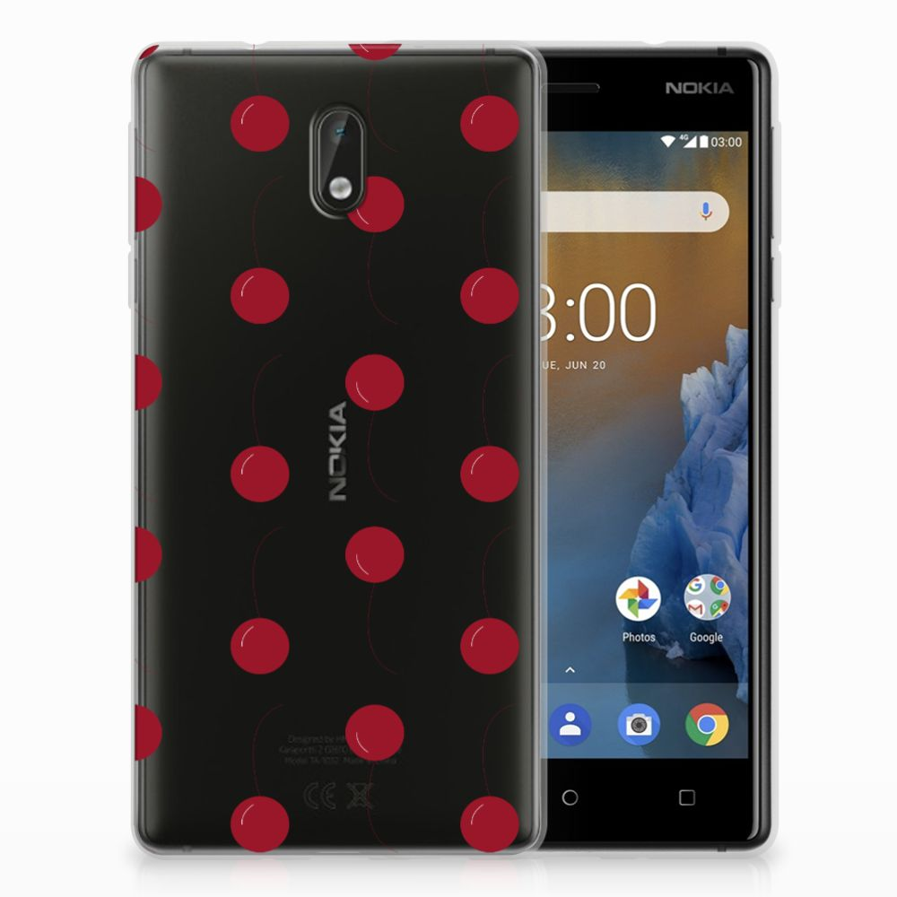 Nokia 3 Siliconen Case Cherries