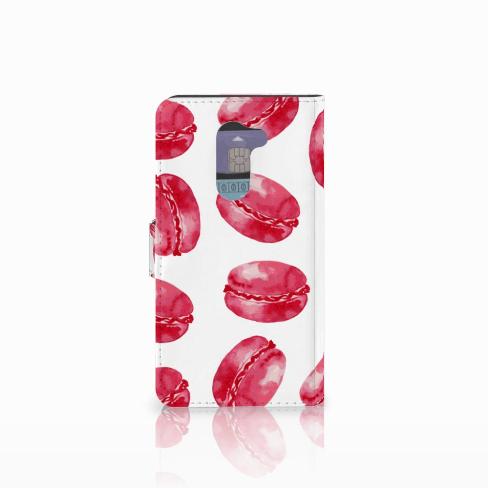 Huawei Honor 6X Book Cover Pink Macarons