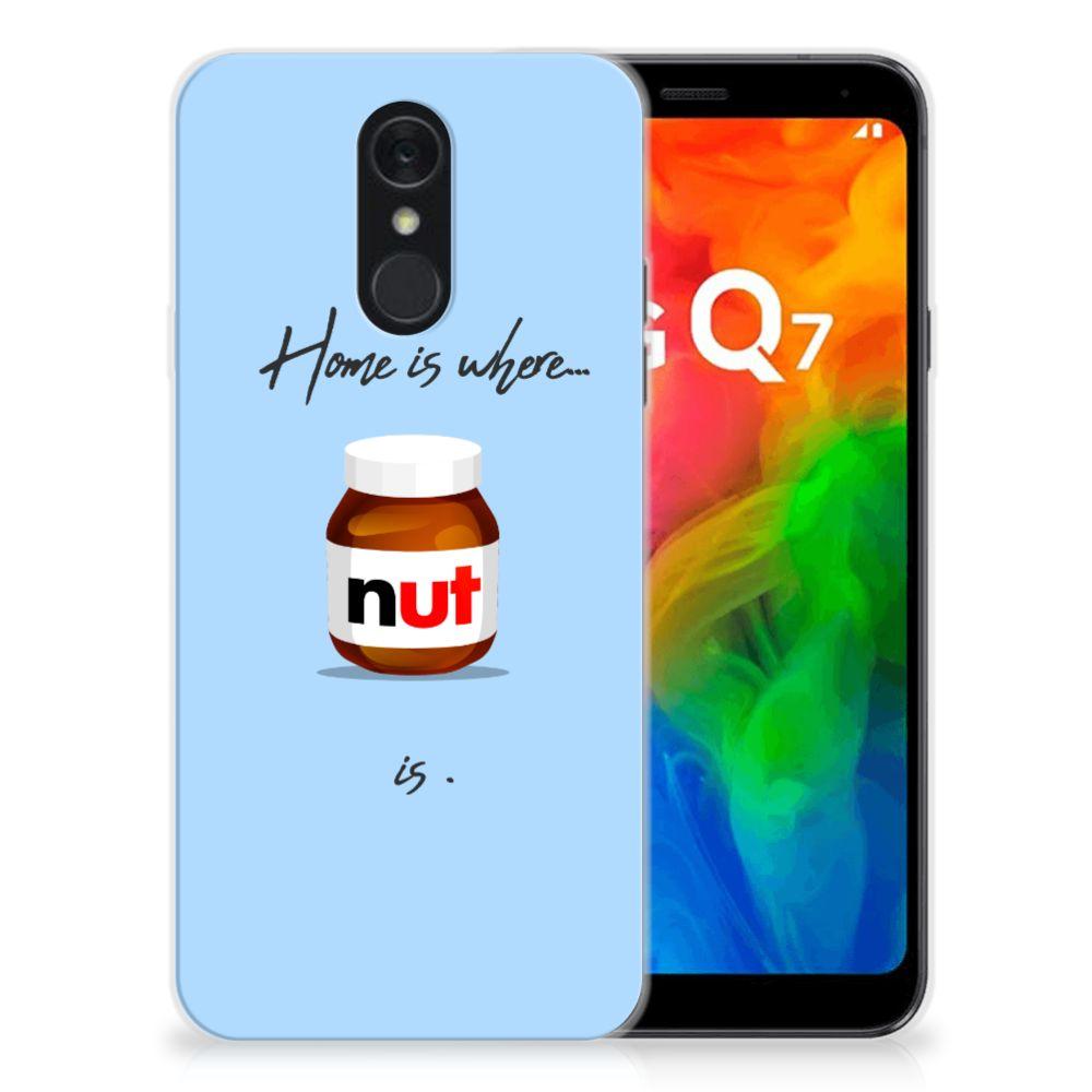 LG Q7 Siliconen Case Nut Home