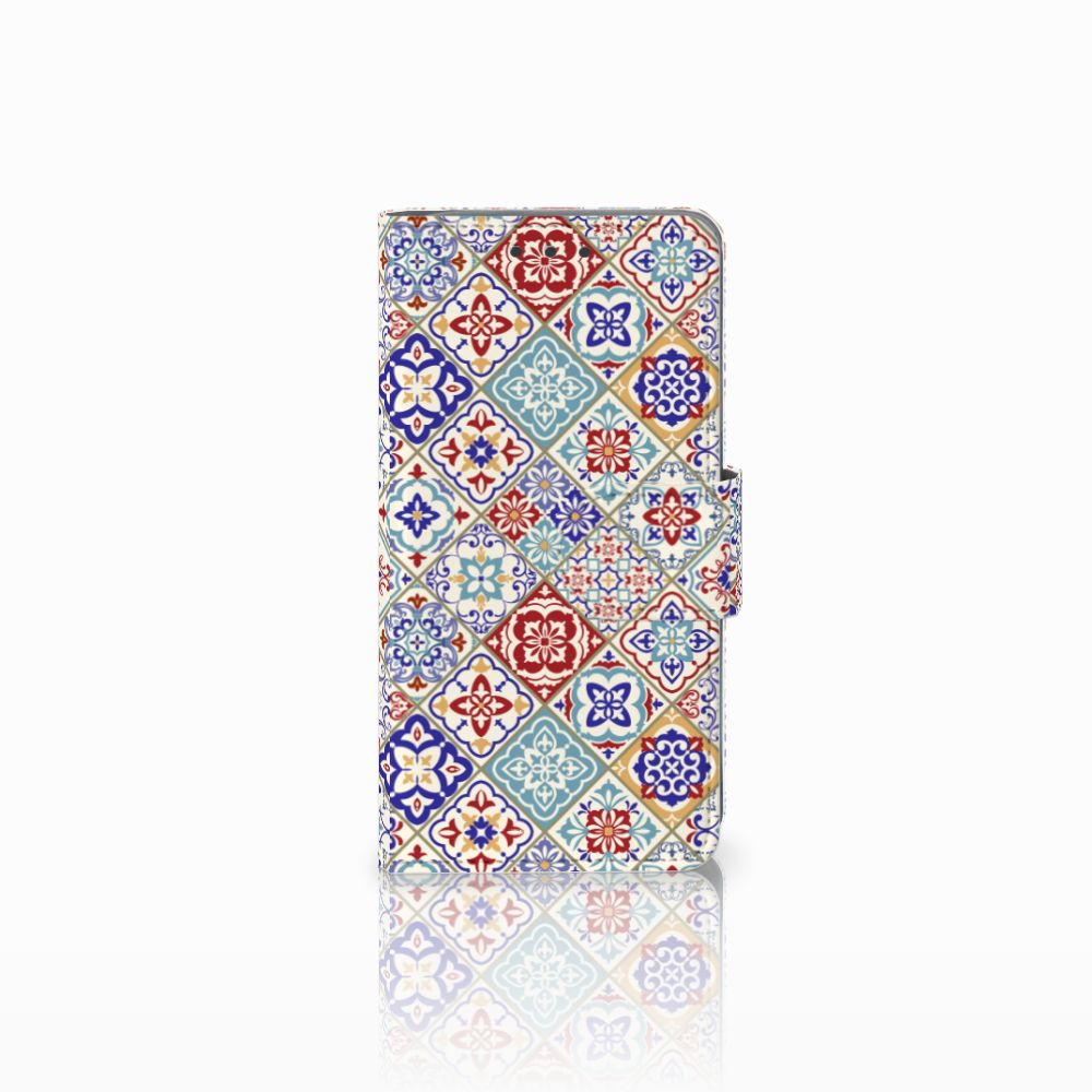 Samsung Galaxy A3 2015 Uniek Boekhoesje Tiles Color