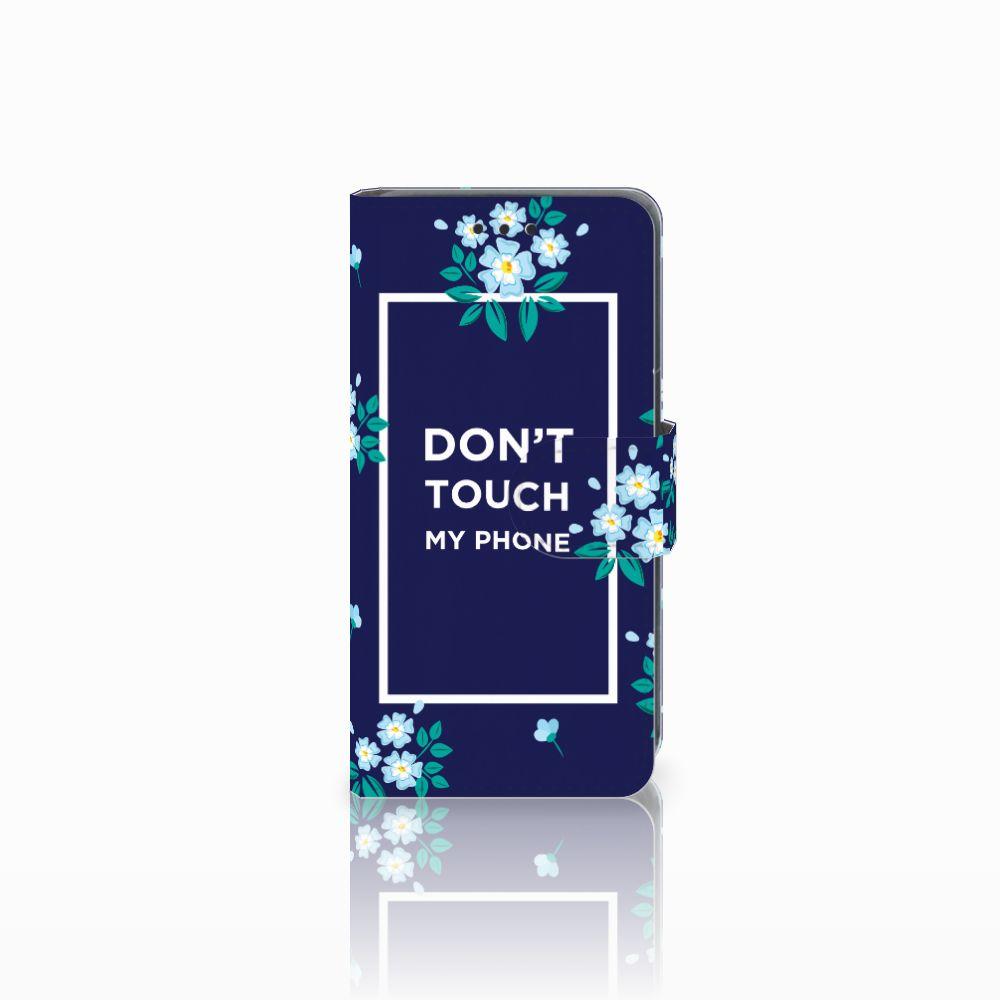 Nokia Lumia 630 Boekhoesje Flowers Blue DTMP